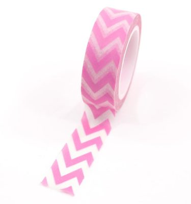 Washi-tape---Chevron-rosa