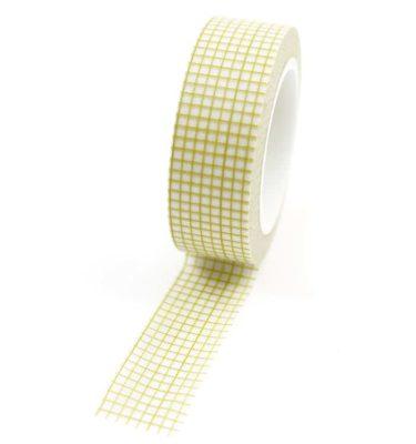 Washi-tape---Quadriculado-bege