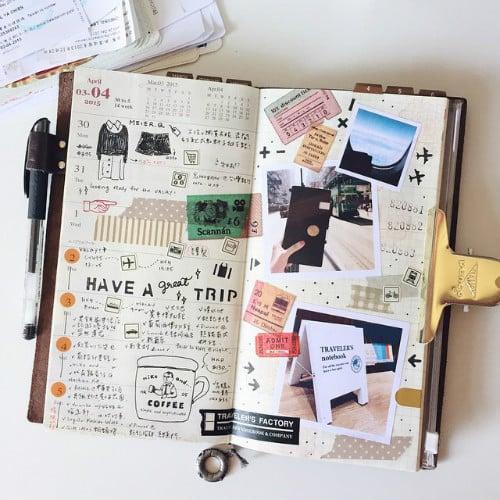 como fazer um diario de viagem travel journal (03)