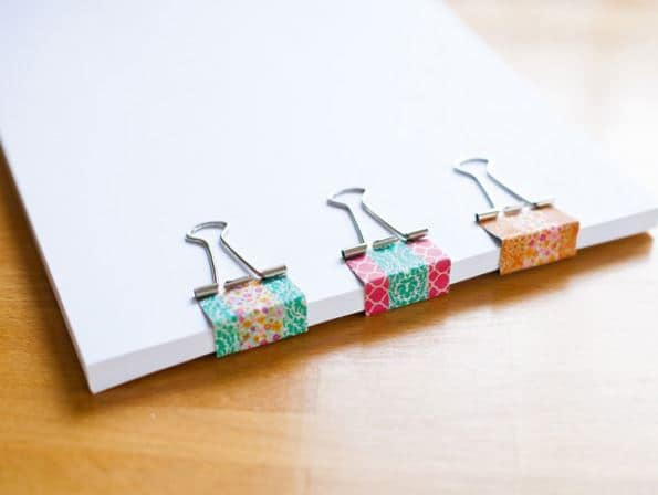 11 Ideias DIY de papelaria com washi tape para o volta às aulas 10