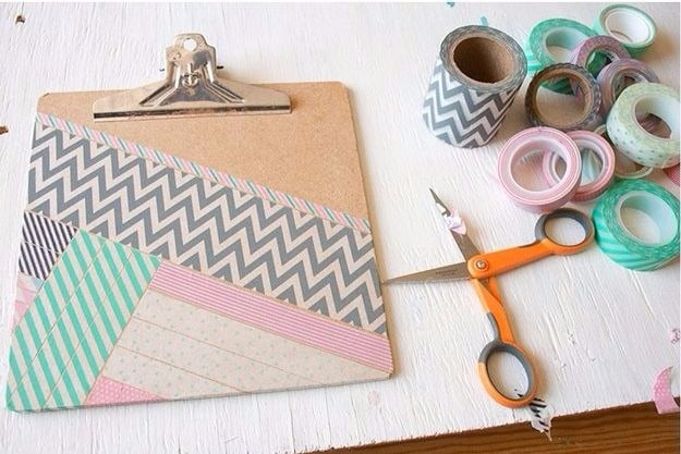 11 Ideias DIY de papelaria com washi tape para o volta às aulas 12