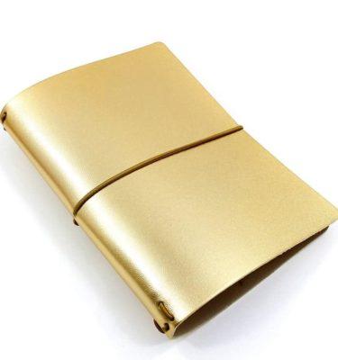 capa couro dourada Acraft  planner 3