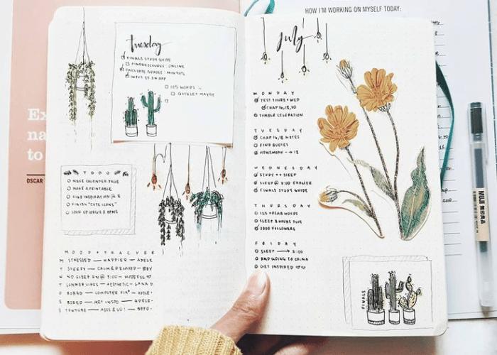 Desenhos fáceis para decorar o planner e bullet journal