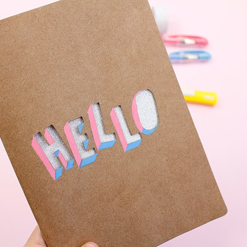 Personalizando capa kraft dos cadernos A.Craft. DIY tutorial