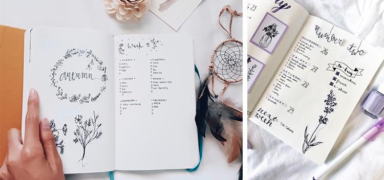 7 Passo A Passo De Doodle Floral Para Decorar Seu Bullet Journal