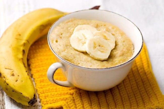 5 receitas de caneca para fazer em casa bolo de banana