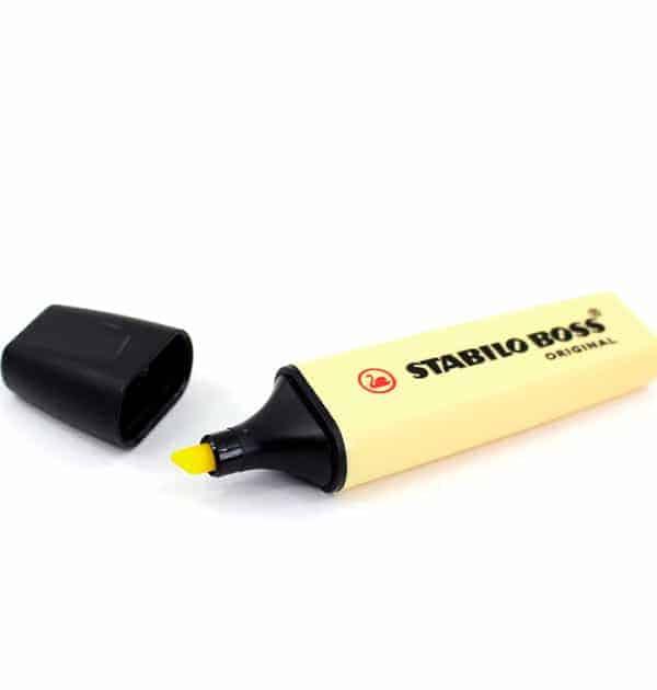 Caneta marcador de texto - Cor amarelo