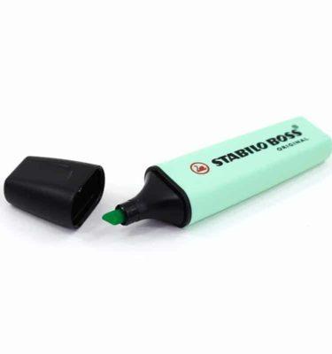 Caneta marcador de texto - Cor verde claro