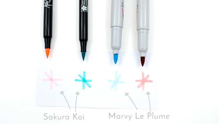 canetas ponta pincel - koi e Le Plume 4