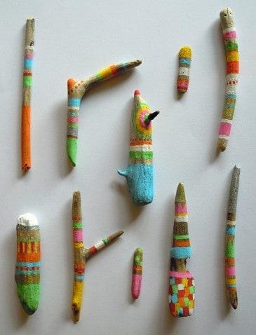 10 DIYs criativos com caneta Posca galhos gravetos
