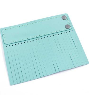 Acessório para Capa em couro original A.Craft - Linguetas com franja - Tarja e franja verde menta