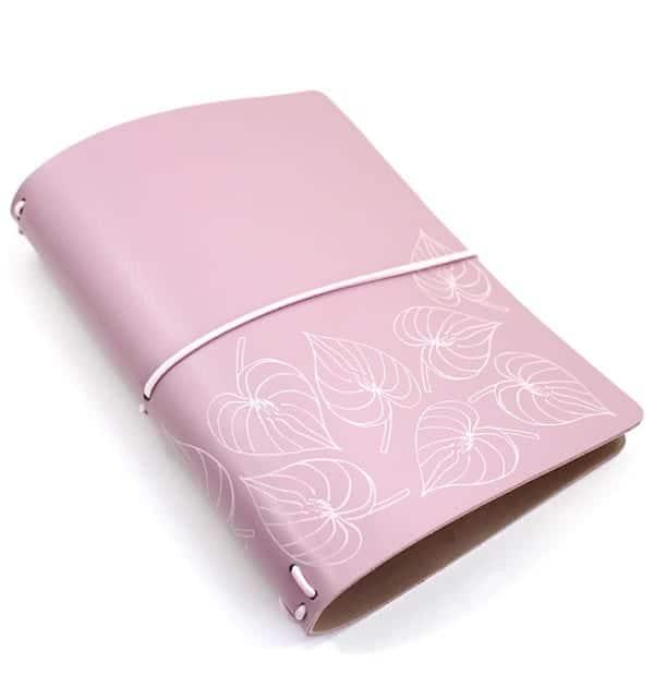 Planner A.Craft – Capa rosa millennial estampa folhas