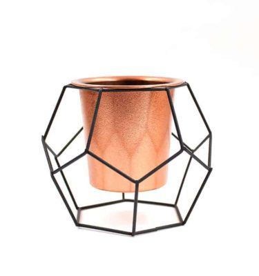 Vaso geométrico Black & Copper