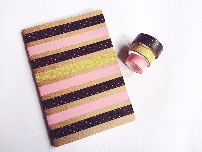 Dicas e inspirações para decoração do seu caderninho craft washi tape