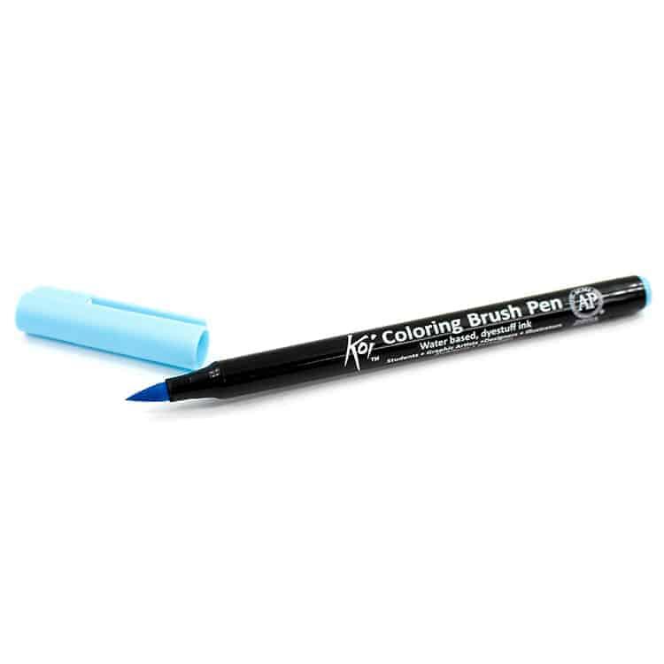 Caneta pincel - Koi Coloring Brush - Cor azul céu