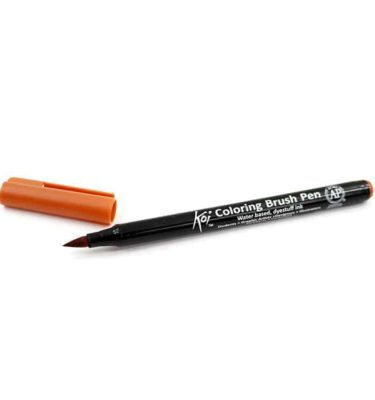Caneta pincel - Koi Coloring Brush - Cor terra siena