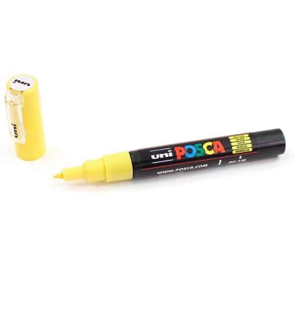 Marcador permanente – Posca – ponta PC-1M – Cor amarelo