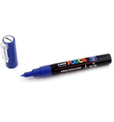 Marcador permanente – Posca – ponta PC-1M – Cor azul