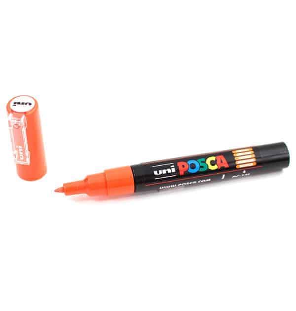 Marcador permanente – Posca – ponta PC-1M – Cor laranja