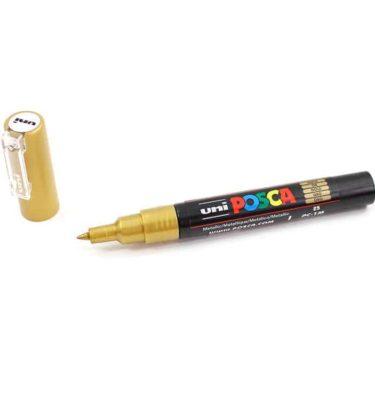 Marcador permanente – Posca – ponta PC-1M – Cor ouro