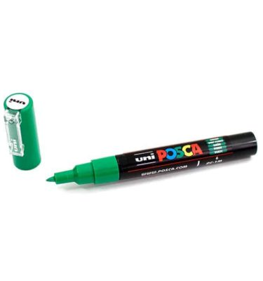 Marcador permanente – Posca – ponta PC-1M – Cor verde