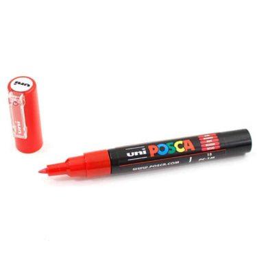 Marcador permanente – Posca – ponta PC-1M – Cor vermelho