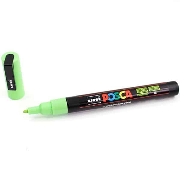 Marcador permanente – Posca – ponta PC-3M – Cor maça verde