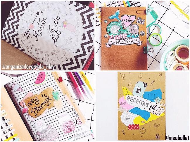 Dicas e inspirações para decoração do seu caderninho craft planner