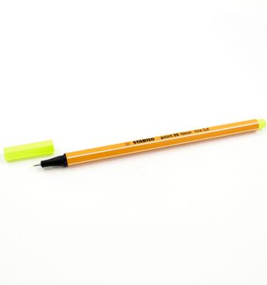 Caneta-Stabilo---Ponta-extrafina---Neon---Cor-amarelo