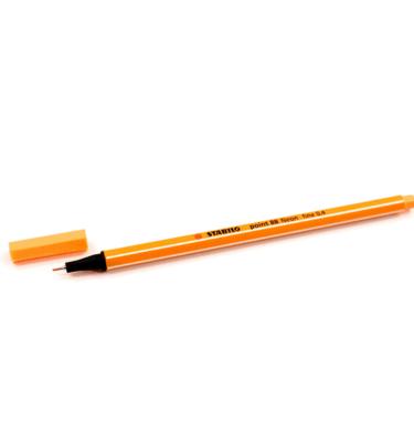 Caneta-Stabilo---Ponta-extrafina---Neon---Cor-laranja