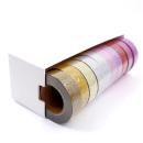 Kit com 10 washi tapes – Glitter – Roxo, pink, vermelho, lilás, rosa, azul claro, prata, dourado, ouro, ouro 2