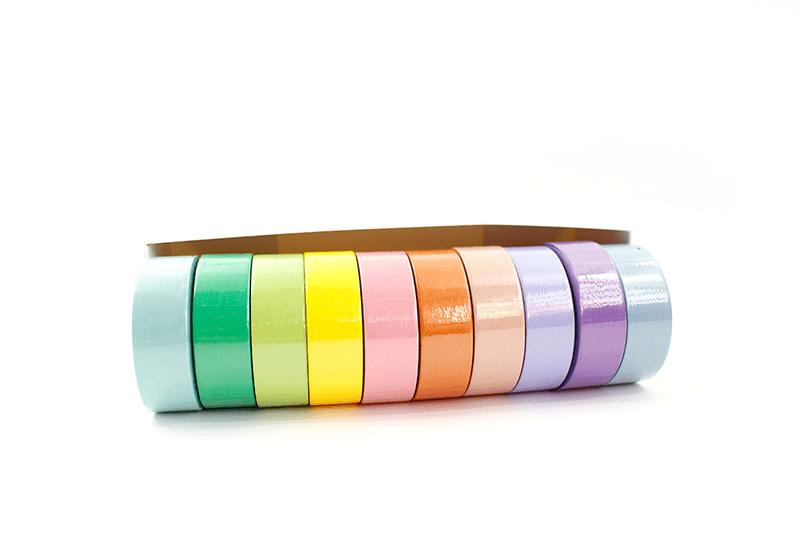 Kit com 10 washi tapes – Tom pastel - Azul claro 45b5057b1d2d6
