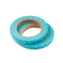 Kit com 2 washi tape – Poá azul e branco3