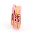 Kit com 3 washi tapes – Rosa com setas, triângulos e bolinhas douradas2