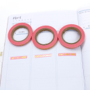 Kit com 3 washi tapes – Rosa com setas, triângulos e bolinhas douradas5