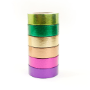 Kit com 6 washi tapes – Metalizada – Roxo, pink, laranja, amarelo, verde e verde claro4