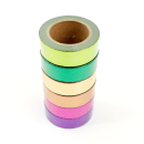 Kit com 6 washi tapes – Metalizada – Roxo, pink, laranja, amarelo, verde e verde claro5