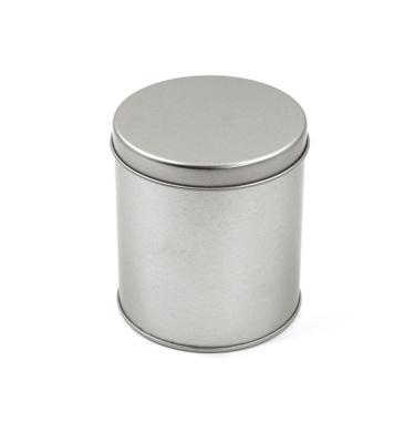 Latinha - Cilíndrica prata - Grande 8,5 x 9,5 cm