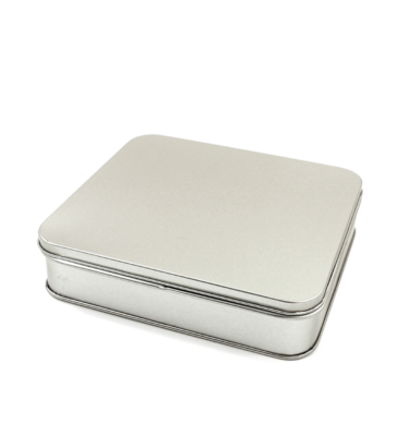 Latinha - Retangular prata - Grande 14 x 16 x 4 cm