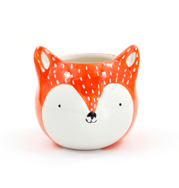 Cachepô de cerâmica - Fox laranja