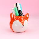 Cachepô de cerâmica – Fox laranja 4