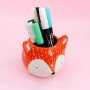 Cachepô de cerâmica – Fox laranja 5