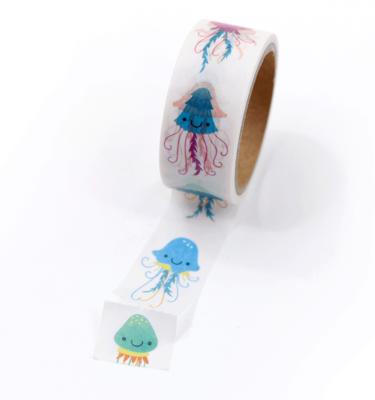 Washi tape – Água viva cute - Com picote