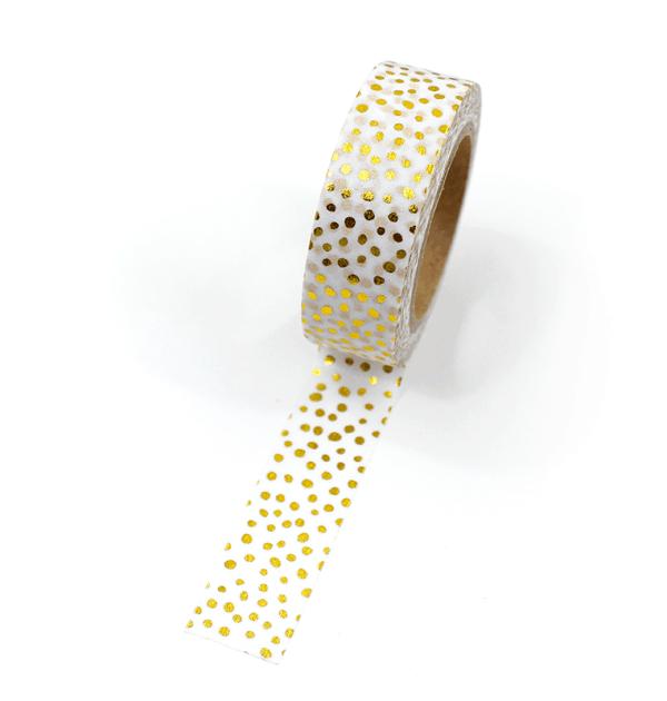 Washi tape – Bolinhas irregulares douradas