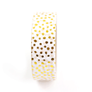 Washi tape – Bolinhas irregulares douradas2