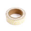Washi tape – Bolinhas irregulares douradas3
