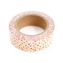 Washi tape – Bolinhas irregulares vermelho e dourado3