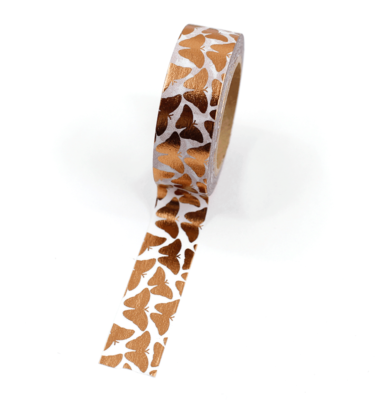 Washi tape – Borboletas cobre