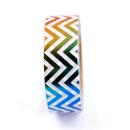 Washi tape – Chevron colorido metalizado2
