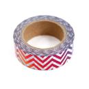 Washi tape – Chevron colorido metalizado3